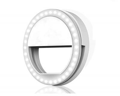 LED Rechargable Selfie Ring Light for Musically TIKTOK & Smule on Mobile, Tablet, Laptop Ring Flash (White)