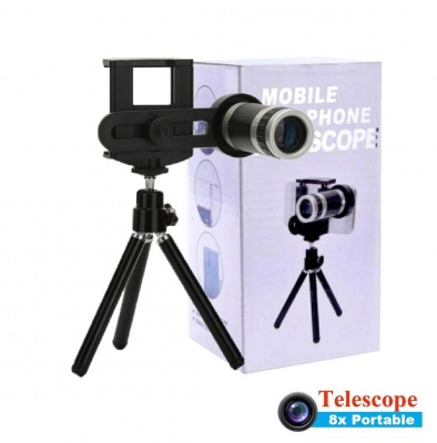 Optical 8X Zoom Telescope Lens Kit for Mobile Camera with Tripod for Android Devices