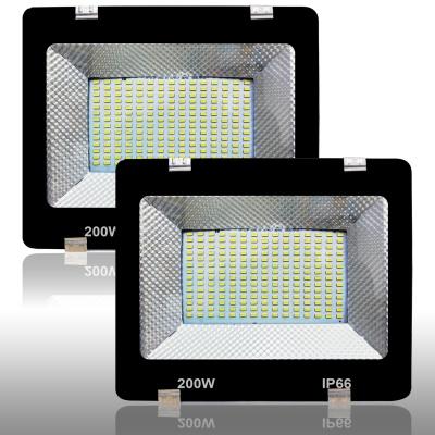 Eco 200 Watt Ultra Thin Slim IP66 LED Flood Light Cool White Waterproof-200W (Pack of 2)
