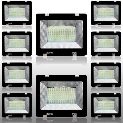 Eco 200 Watt Ultra Thin Slim IP66 LED Flood Light Cool White Waterproof-200W (Pack of 10)