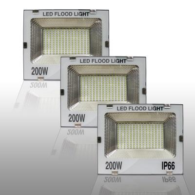 200 watt (White Glass) led Flood Light Outdoor Waterproof IP66 Outdoor Lights Colour White Light-200watt (Pack of 3)
