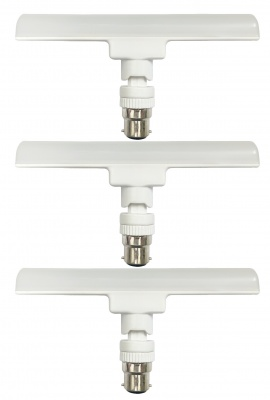 High Bright Energy Saver T-Bulb Base B22 12-Watt LED Lamp 6500K Cool Daylight-(Pack of 3)