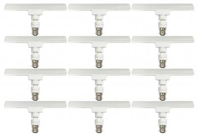High Bright Energy Saver T-Bulb Base B22 12-Watt LED Lamp 6500K Cool Daylight-(Pack of 12)