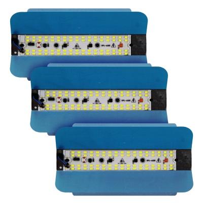 Eco-Friendly Led Flood Light 50W Ip65 Waterproof 220V 240V Iodine Tungsten Lamp,White-Pack of 3