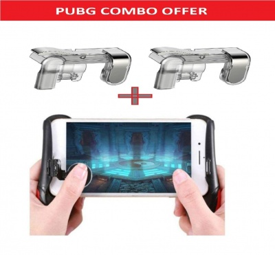 The Echt Mobile Game Controller and Gamepad for PUBG//Knives Out/Rules of Survival for iPhone iOS/Android Gaming Joysticks Sensitive Shoot and Aim Triggers for L1R1 Mobile Joystick Gaming Grip