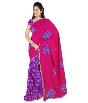 Bandhani 704 Design Fashion Georgette Sarees- For Women