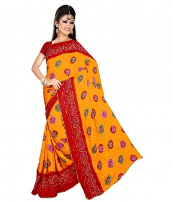 Bandhani 705 Design Fashion Georgette Sarees- For Women