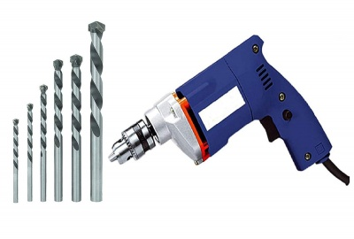 (Modle-ZA8FH1) Electric Drill Machine 10Mm with Masonry Drill Bit Set - (Colours As Per Availability)