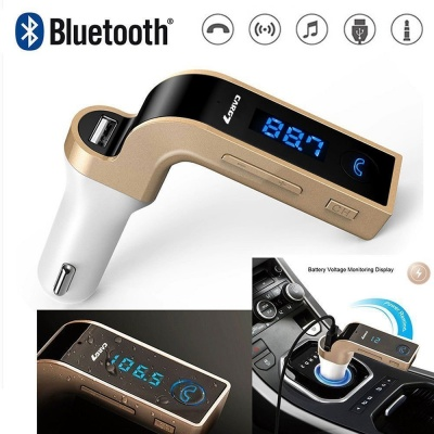 Car G7 LCD Bluetooth Car Charger FM Kit MP3 Transmitter USB and TF Card Slot with in Built Mic Hands-Free Calling for All Android and iOS Devices (Colour May Vary)