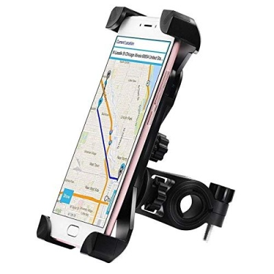 Universal 360 Degree Rotating Mobile Phone Mount Stand For Bikes (Black)