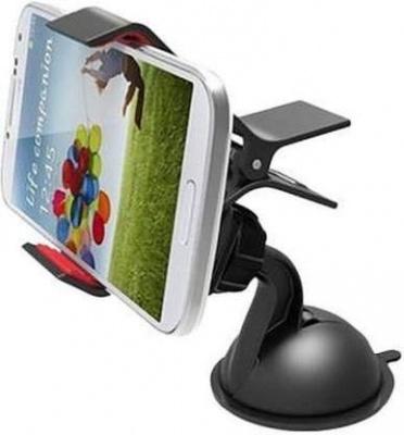 Car Mobile Holder for Windshield, Dashboard (Small-Black)