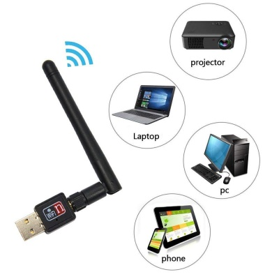 The Echt Latest 900Mbps Wireless Network Adapter with Antenna for All PC/Laptops
