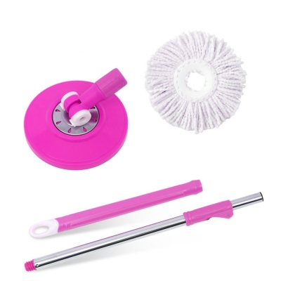 360 Degree Rotating Magic Mop Head, Stick with 1 Refill (Multicolour)