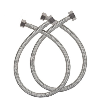 hot & Cold Water ss Geyser Connection Pipe (24 Inch Long) -Set of-2