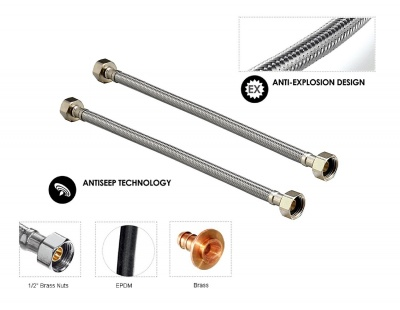 SS-Connection-600-mm-18-Grade-AISI-304-Set-of-2-Silver