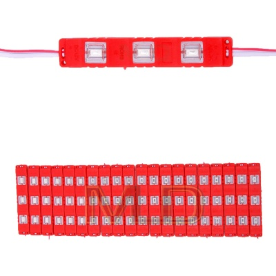 3 LED Strips 12V Waterproof 5630/5730 LED SMD Injection Module Red - 20 Module