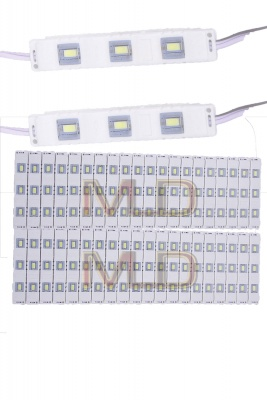 3 LED Strips 12V Waterproof 5630/5730 LED SMD Injection Module White- 40 Module