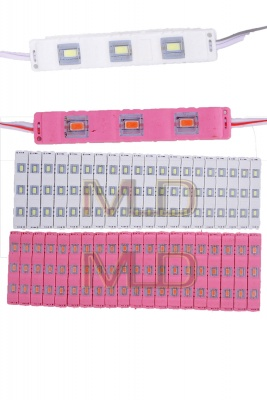 3 LED Strips 12V Waterproof 5630/5730 LED SMD Injection Module White,Pink- 40 Module