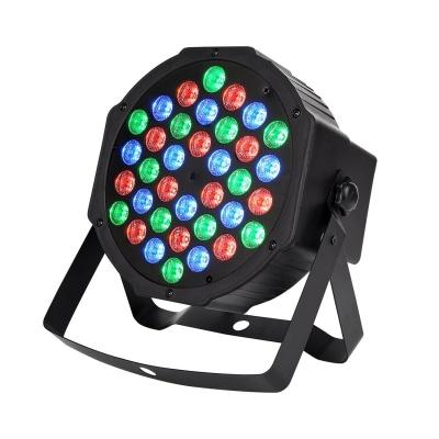Dj Lights 36 Leds Dmx 512 Rgb Color Mixing Wash Par Light For Disco Diwali Christmas Wedding Party Show Live Concert Stage Lighting (Black)