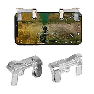 L1 R1 Dual Gamepad Trigger with Fire Shooter Controller Button Aim Key Mobile Gaming Joystick for PUBG/Knives Out/Rules of Survival for All Smartphones -1 Pair