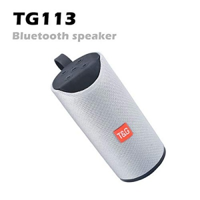 Tg-113 Bluetooth Speaker Portable Wireless Speaker | with Mic |with USB Port |Extra Bass Speaker Supported by Aux Cable, Pendrive