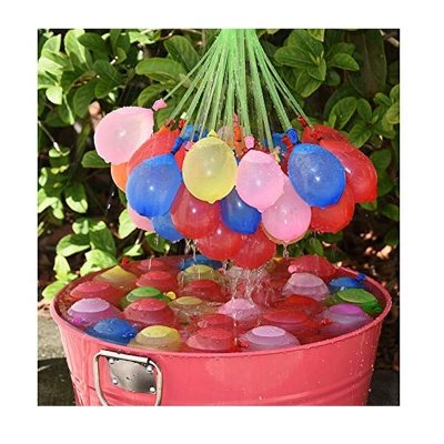 Pack of 3 (37 Ballons Each) 60 Seconds Fill & Automatic Tie Multi Colored Magic Bunch of Water Balloons No More Struggle or Hassle - Great Festival and Outdoor Water Sports Fun