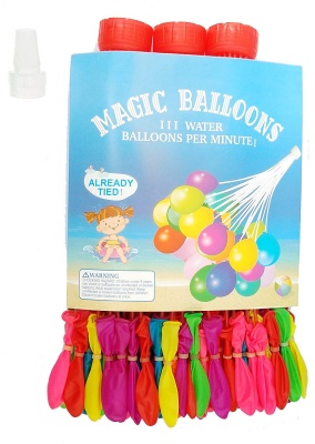 Magic Water Balloons for Holi (Set of 3) Innovative Concept Easy Quick and time Saving Very Quickly Fills The Balloons Without Any Tying Hassle pani ke gubbare