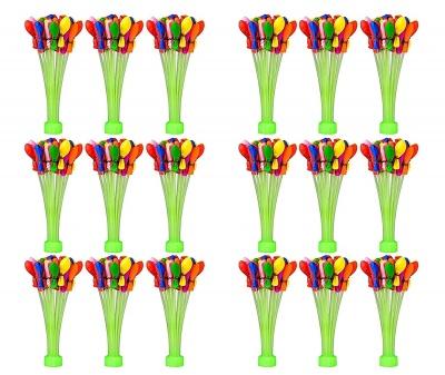 Holi Magic Water Balloons Non Toxic (6 Pack - 666 Balloon) ( Total - 18 Sticks )