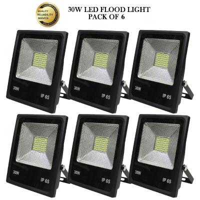 30 Watt Ultra Thin Slim Ip66 LED Flood Outdoor Light Cool White Waterproof- 30W(Pack of 6)