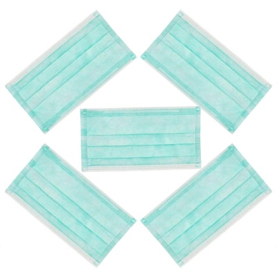 Mouth Face Mask For Anti Dust, Germs, Allergies, Pollution, Travel (Set Of 5 Pcs)