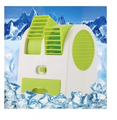 MLD Mini Small Cooling Portable Desktop Dual Bladeless Air Cooler USB (Multicolor)