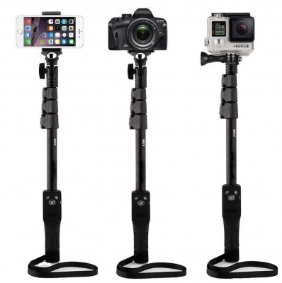 YT1288 Bluetooth MonoPod Extendable and Foldable Selfie Stick for Smartphones & DSLR Cameras with Bluetooth Remote Control