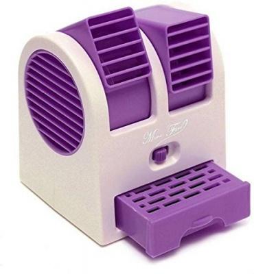 MLD Mini Small Cooling Portable Desktop Dual Bladeless Fan(Multicolor)