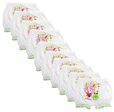 Hakimi Mix Pack Girls and Boys Cotton Printed Bloomer drawer Mix Pack (pack of 10)( 12 Months - 18 Months )