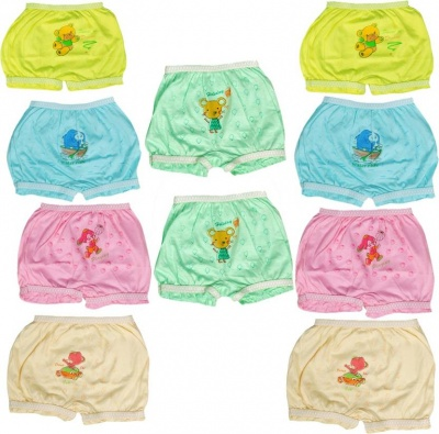 Hakimi®Mix Pack Girls and Boys Cotton Printed Bloomer drawer Mix Pack (pack of 10)( 3 Months - 6 Months )