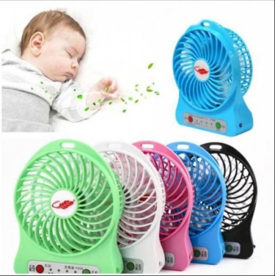MLD Mini Portable USB Rechargeable 3 Speed Fan (Multicolor)