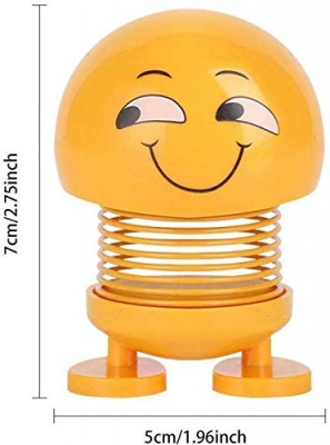 Smiley Spring Doll,Cute Emoji for Car Dashboard Bounce Toys,Emoticon Figure Funny Smiley Face Springs for Car Interior Dashboard Expression Bobble-Head (Pack of 1) (Tongue Face)