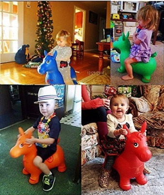 Jumping and Riding Horse Bouncing Horse Hopper Animal Toy for Kids (Colour and Characters May Vary As Per Avaiablity)
