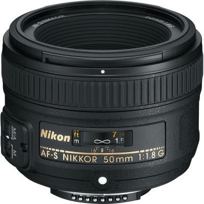 Nikon AF-S NIKKOR 50mm f/1.8G Lens  (Black, 90)