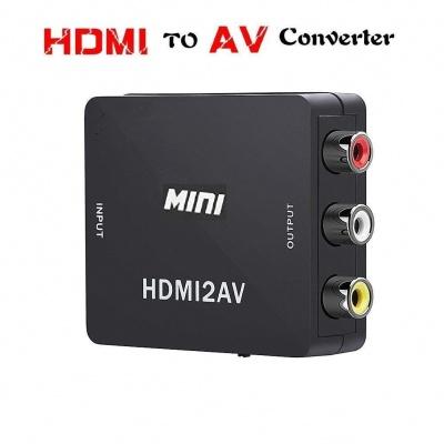 Metal Body Mini HDMI to AV Composite RCA CVbS Video + Audio Converter