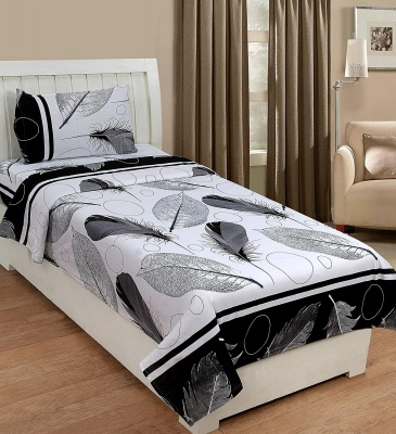 Cotton Single Bedsheet with Pillow Cover -Pankh