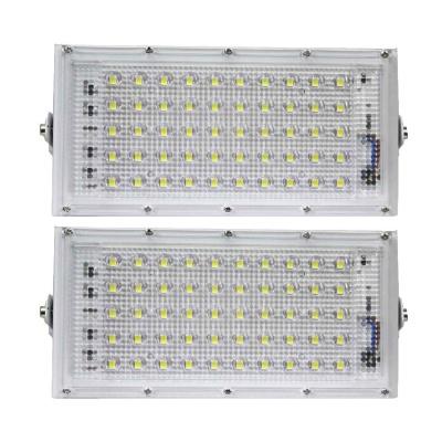 50watt LED watt Ultra Thin Slim IP66 IP6667/50 LED Flood Outdoor Light Cool White Waterproof-Pack of 2