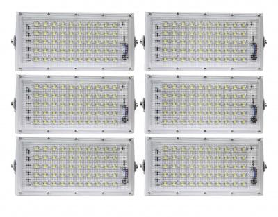 50watt LED watt Ultra Thin Slim IP66 IP6667/50 LED Flood Outdoor Light Cool White Waterproof-Pack of 6