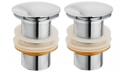 Mawson MPW118 Pop Up Waste Coupling 4 Inch  (Chrome)-Pack of 2