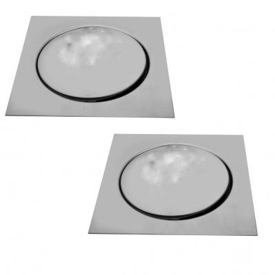 Mawson BFP2W0225 Stainless Steel Floor Pop up Grating (Bathroom Floor Drainer/Jali), Silver-Pack Of 2