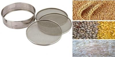 Grain,chalni Stainless Steel Wheat,Rice, Grain, chalni with 3 net, 1 Piece Set