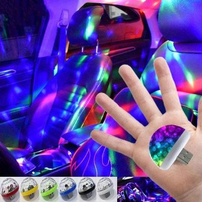 1pcs LED Car USB Atmosphere Light DJ RGB Mini Colorful Music Sound Lamp Festival Party Karaoke