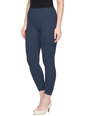 Women's Ankle Length Leggings Soft Cotton Lycra Fabric Slim Fit (Grey, Free Size)