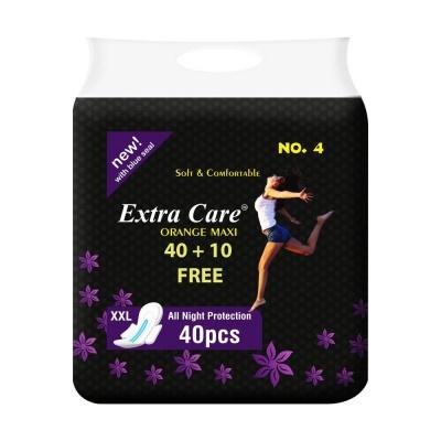 Extra Care Sanitary Pads, XXL - Pack of 40 (XXL, Pink Maxi) (Orange Maxi)