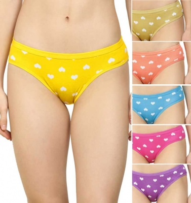 FIT212 Women's Hipster Printed Multicolour Panty - Pack of 6
